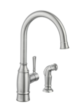 Noell Single-Handle 87506SRS Kitchen Faucet with Side Spray Spot Resit Stainless - $129.00