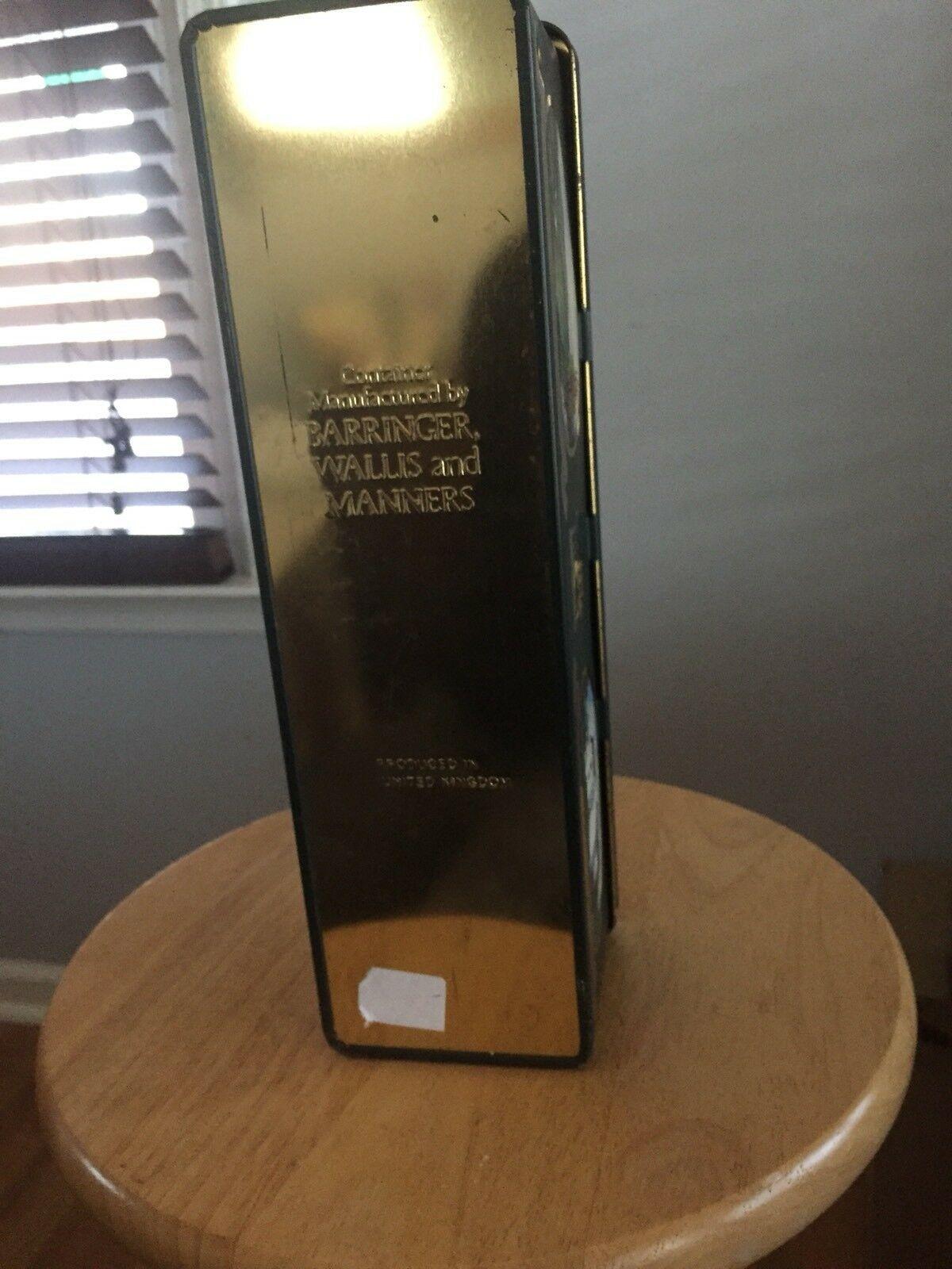 Glenfiddich Scotch Whiskey Single Pure Malt Buck Deer Tin Metal Box W Hinged Lid