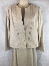 Executive Focus Wool Pencil Skirt Suit Lined 2 Button Jacket Blazer Size... - $38.56