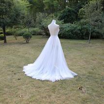 WHITE Detachable Tulle Skirt White Tulle  Open Skirt Wedding Photo Tulle Skirt  image 3