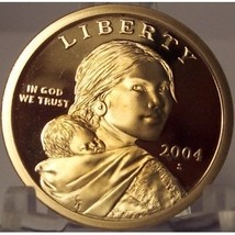 2004-S Deep Cameo Proof Sacagawea Dollar #0842 - $13.59