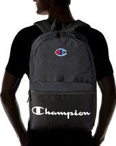 Champion Men's Manuscript Canvas School Backpack Shoulder Zipper Book Bag image 8