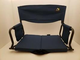 GCI Outdoor Full Size Stadium Arm Chair Navy Blue Bleacher Sport Portabl... - $29.69