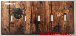 Rustic Barn Wood Door image Light Switch Outlet Wall Cover Plate Home Decor image 6