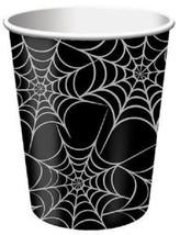 Halloween Dancing Skeletons Black Spider Webs 8 9 oz Cups Cup Party - £3.48 GBP