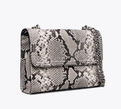 NWT Tory Burch Fleming Embossed Snake Convertible Shoulder Bag New $598 image 2