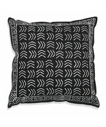 Farmhouse ZIGGY COTTON THROW PILLOW Country White Black Abstract Cushion... - £28.92 GBP