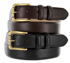 Mens Dress Belt ,Golf Belts Smooth Calf Skin Leather Belt New Black Brown Arhtur - $26.95