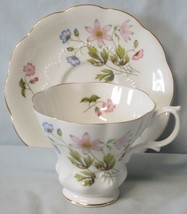 Royal Albert Cup and Saucer Spring Flowers Embossed Shells? - $34.54