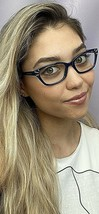New TORY BURCH TY 0420 1370 Blue 52mm Cats Eye Rx Women's Eyeglasses Fra... - $99.99