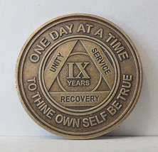 Alcoholic 9 Year Recovery -One Day Chip-Medallion Coin Medal Token  AA A... - $7.88
