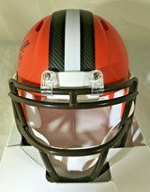 NICK CHUBB/ AUTOGRAPHED CLEVELAND BROWNS RIDDELL BRAND MINI HELMET / COA image 4
