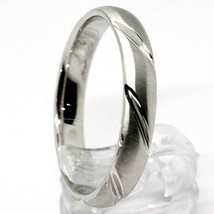 18K WHITE GOLD BAND BRAIDED RING, BRAID WOVEN, SATIN, MADE IN ITALY image 2