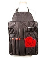 7 Pc BBQ Aprons and BBQ Tools Set - Tong, Fork... - $28.85 CAD