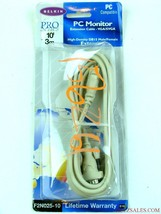 NEW Belkin Pro Series PC Monitor Extension Cable 10ft VGA/SVGA, F2N025-10 - $12.82