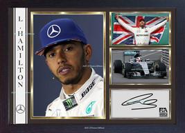 Lewis Hamilton signed autograph Memorabilia Mercedes Formula 1 photo pin... - $19.27