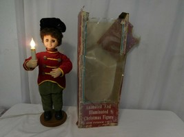 Christmas Soldier with Light up Candle Motion Animated very Rare Vintage... - $50.81