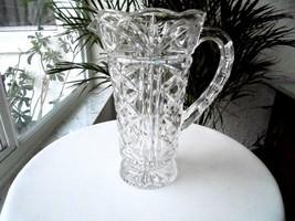 "Elegant Vintage Crystal 1 Quart 9"" Tall Bar Pitcher - $24.75"
