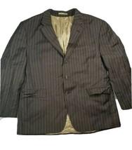 Ralph Lauren Brown Stripe Wool Blazer/Sport Coat/ 3 Button Jacket Size 46S  B4 - $46.74