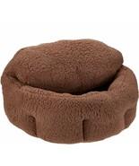 "Burrow Bud 29"" x 31"" Cozy Cuddle Pet Bed in Brown   @BM5 - $193.99"