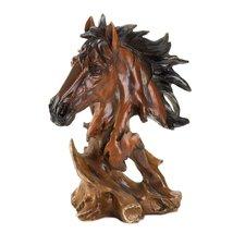 Horse Statue Decor, Rustic Stallion Figurines Horse Art Sculpture Desk Art - $27.99