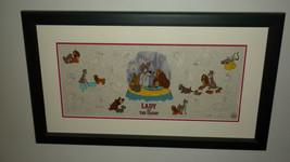 "DISNEY ART CLASSICS ""LADY AND THE TRAMP"" LUMICEL LMT ED 44/1955 COA RARE... - $999.00"