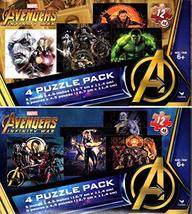 Marvel Avengers Infinity War - 4 Puzzle Pack - 12 Piece Jigsaw Puzzle (S... - $17.05