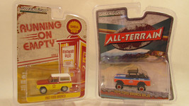 Greenlight Running on Empty 1967 Ford Bronco and All Terrain 1975 Ford B... - $14.15