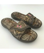 UA Under Armour Womens Slip On Slide Shoes Size 6 Camo Pink Foam Sandals - $24.99