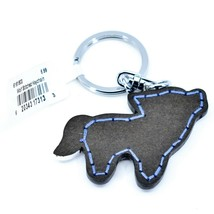 "Northwoods Layered Wood 3D Stitched Design Howling Wolf 1.5"" Keychain image 2"