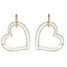 Gorgeous Cristina Sabatini Amoroso Clear Heart Hoop Earring - $206.91