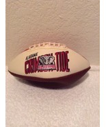 "ALABAMA CRIMSON TIDE 9"" MINI YOUTH SIZE LEATHER MINI-FOOTBALL W/ LOGO AN... - $19.95"