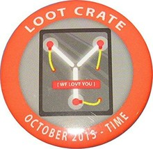 Loot Crate 'Time' Pin - October 2015 - $3.99
