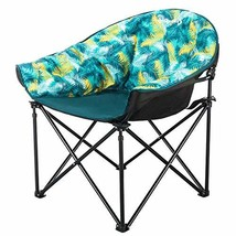 KingCamp Moon Saucer Leisure Heavy Duty Steel Camping Chair Padded Seat ... - $58.34