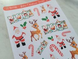 Retro Christmas Sticker Sheet image 1