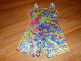 Size Medium Future Star Capezio Dance Gymnastics Unitard Leotard Multi C... - $17.00