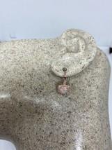 Vintage Fire Opal Earrings Rose Golden 925 Sterling Silver Dangle - $75.49