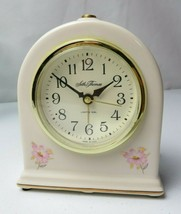 Vintage Seth Thomas Fanciful 6 in. Porcelain Electric Alarm Clock Made i... - $29.00