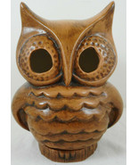 "Vintage Ceramic Owl Candlestick Holder 6"" Tall Brown Figurine - $12.86"