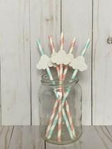 Twinkle Twinkle Little Star Straws, Cloud straws, Stars Theme 10 Ct - $9.05