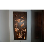 """Hand Crafted Wood Art Under Sea Turtles LED Back Lite 36""""x 17""""x 2"""" - $137.61"""