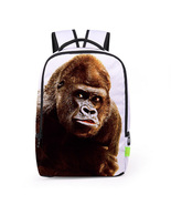 Creative personality 3d gorilla digital print school travel backpack - $26.00