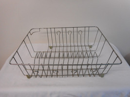 Vintage Stainless Steel Dish Drainer Drying Rac... - $14.70