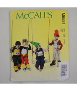McCall's Sewing Pattern M6591 Costume Play Applique Animal Overalls Todd... - $2.59