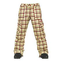 Burton Elite Cargo Pants Girls Snowboard Ski Waterproof Insulated Plaid XL - $92.76