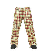 Burton Elite Cargo Pants Girls Snowboard Ski Waterproof Insulated Plaid XL - $92.76