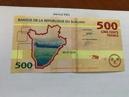 Burundi 500 francs uncirc. banknote 2018 - $6.50