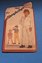 Vintage Sewing Pattern Simplicity 1980's Boys 5869 Shirt Jacket Pants Sh... - $9.89