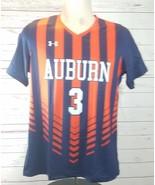 Under Armour Auburn Tigers Women's M Soccer Jersey Navy Blue Orange - $31.49