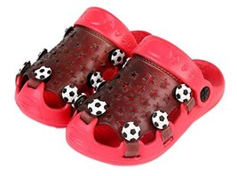 Kids Sandals in/Outdoor Toddler Clogs Shoes/Red Football 16CM Length image 2